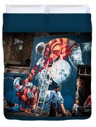 Streets And Art In Colour. Duvet Cover