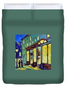 Streets At Night Duvet Cover