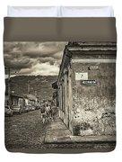 Streets Of Antigua - Guatemala Duvet Cover