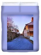 Streets Of Harpers Ferry Duvet Cover