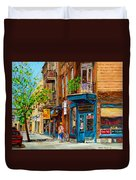Streets Of Montreal Over 500 Prints Available By Montreal Cityscene Specialist Carole Spandau Duvet Cover
