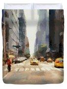 Streets Of New York Duvet Cover