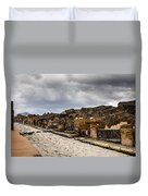 Streets Of Pompeii Duvet Cover
