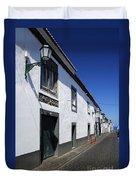 Streets Of Ribeira Grande Duvet Cover