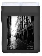 Streets Of Rome 2 Black And White Duvet Cover