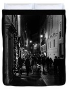 Streets Of Rome At Night  Duvet Cover