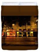 Streets Of San Jose, Ca Midnight Duvet Cover