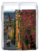 Streets Of San Miguel Duvet Cover