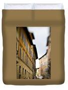 Streets Of Siena Duvet Cover