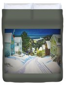 Streets Of Snow Duvet Cover