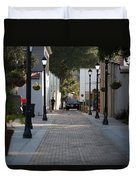 Streets Of St. Augustine Duvet Cover