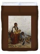 Streitt, Franciszek 1839 Brody - 1890  Rest On The Field. 1875. Duvet Cover