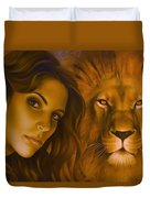 Strenght And Tenderness Duvet Cover