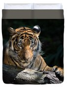Strength Through Darkness Duvet Cover
