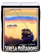 Stresa - Mottarone, Cable Car, Italy Duvet Cover
