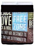 Stress Free Zone  Duvet Cover