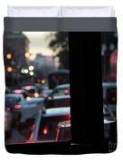 Stret Car Traffic Duvet Cover