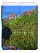 String Lake Morning Mirror Duvet Cover