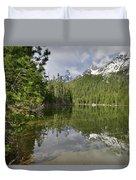 String Lake Teton Reflection Duvet Cover