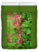 String Of Bleeding Hearts Duvet Cover