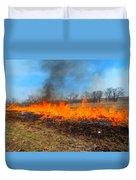 String Of Fire Duvet Cover