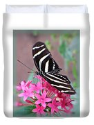 Striped Beauty - Butterfly Duvet Cover