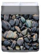 Striped Pebbles Duvet Cover