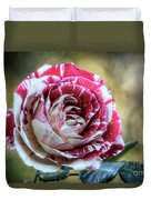 Striped Rose  Duvet Cover