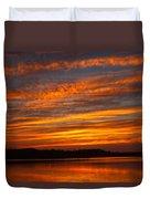 Striped Sunset Duvet Cover