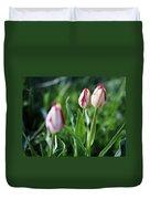 Striped Tulips In Spring Duvet Cover
