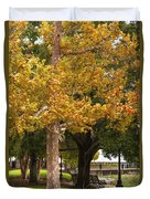 Strolling In Waterfront Park Duvet Cover