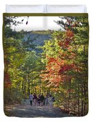 Strolling The Upper Cascades Trail Duvet Cover