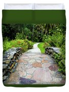 Strolling Through Paradise Duvet Cover