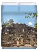 Structure Two In Calakmul Duvet Cover