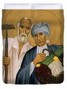 Sts. Isidore And Maria - Rliam Duvet Cover