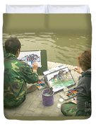 Students Painting, China Duvet Cover