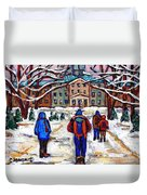 L'art De Mcgill University Tableaux A Vendre Montreal Art For Sale Petits Formats Mcgill Paintings  Duvet Cover