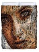 Studio Portrait In Pencil  Duvet Cover