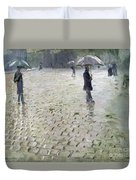 Study For A Paris Street Rainy Day Duvet Cover by Gustave Caillebotte