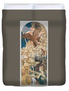 Study For The Coming Of The Americans , John Singer Sargent Duvet Cover