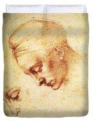 Study For The Head Of Leda Duvet Cover