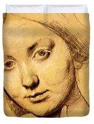 Study For Vicomtesse D Hausonville Born Louise Albertine De Broglie Duvet Cover