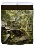 Study From Nature   Rocks And Trees Duvet Cover
