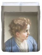 Study Of A Boy In A Blue Jacket , Benedetto Luti Italian, Florence 1666-1724 Rome Duvet Cover