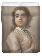 Study Of A Boy In Half Length, Jean-etienne Liotard, 1736 - 1738 Duvet Cover