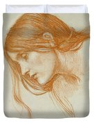 Study Of A Girls Head Duvet Cover