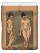 Study Of A Naked Model Duvet Cover