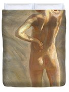Study Of A Nude Boy Duvet Cover