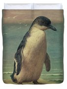 Study Of A Penguin Duvet Cover by Henry Stacey Marks