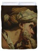Study Of An Oriental Head Duvet Cover
